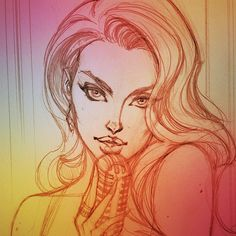 Singer by J. Scott Campbell. I really like this, I love the face!