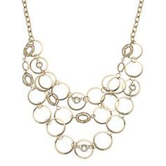 Jennifer Lopez Circle Link Swag Necklace