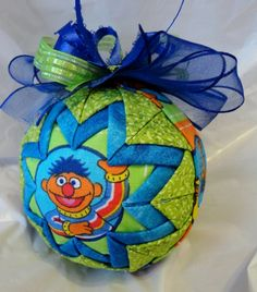 Sesame Street Ernie Christmas Quilted Ornament by ncgalcreations, $18.00