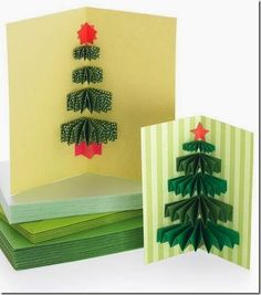 Handcrafted Holiday Greetings: Five Easy DIY Cards Christmas Tree Cards, Noel Christmas, Christmas Decorations, Handmade Christmas, Simple Christmas, Xmas Trees, Christmas Countdown, Christmas Ideas, Christmas Greetings