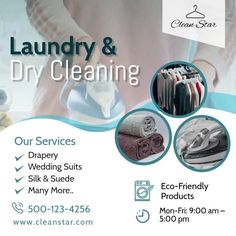 Laundry Business, Cleaning Business, Business Flyer Templates, Business Flyers, Cleaning Service Flyer, Invert Colors, Laundry Drying, Promotional Flyers, Laundry Service