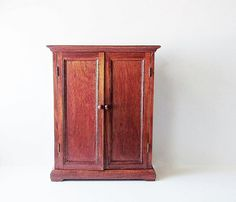 Vintage American Heirloom Collection Wood Doll Armoire By Jarmfarm, $49.99