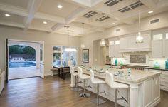 La cocina de Phelps, uno de los lugares favoritos del nadador olímpico. Cerca se…