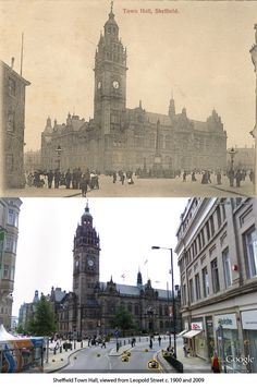 Sheffield History - Then and Now Photo Thread Sheffield Pubs, Sheffield Steel, Old Pictures, Old Photos, Empire Time, Then And Now Photos, South Yorkshire, Town Hall, Places To Travel