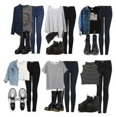 Untitled #44 by maddiecarinastyle on Polyvore featuring polyvore fashion style AR SRPLS Zara Chaser H&M Topshop Underground Dr. Martens MTNG Gold Saturn clothing