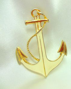 Park Lane Anchor Brooch by VJSEJewelsofhope on Etsy, $7.00