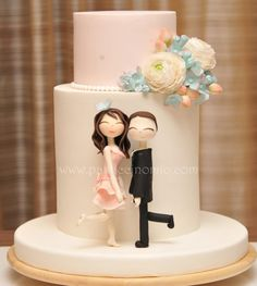 Engagement Cake - Cake by Pasticcino Mio