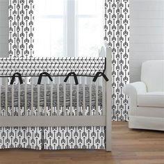 Boy baby crib bedding by Carousel Designs. Crib bedding collections designed especially for baby boys. Navy Crib Bedding, Baby Boy Bedding, Unique Cribs, Arrow Nursery, Horse Nursery, Baby Boy Cribs, Modern Crib, Carousel Designs, Luxury Bedding Collections