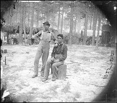 Petersburg, Va. Two youthful military telegraph operators at headquarters.  1864 August
