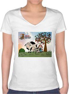 Bir One - Vegan - Kendin Tasarla - Bayan V Yaka Tişört