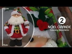 Noel Grande Decorativo 90 Cm 2 Parte -SamiManualidades - YouTube Christmas Decorations, Christmas Tree, Christmas Ornaments, Holiday Decor, Christmas Projects, Diy And Crafts, Crochet, Handmade, Christmas Crafts