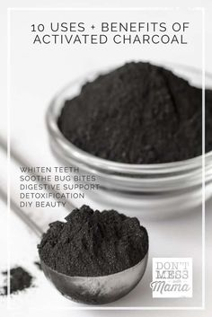Teeth Whitening 10 Uses and Benefits of Activated Charcoal - use for DIY beauty, teeth whitener, other natural remedies. - Use activated charcoal for everything from whitening teeth to DIY beauty to natural remedies for digestive relief and so much more! Holistic Remedies, Natural Home Remedies, Herbal Remedies, Health Remedies, Natural Healing, Natural Oil, Holistic Healing, Cold Remedies, Bloating Remedies
