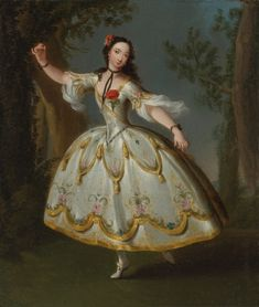 Portrait of the dancer Eva Marie Veigel, later Mrs. David Garrick byEdward Haytley, mid 18th century