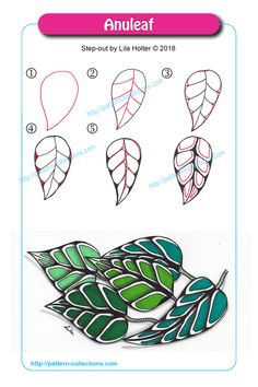 Doodle Patterns 674765956644711241 - Anuleaf by Lila Holter Source by disciplineboy Doodles Zentangles, Tangle Doodle, Tangle Art, Zentangle Drawings, Zentangle Patterns, Doodle Drawings, Doodle Art, Zen Doodle Patterns, Diy Planner