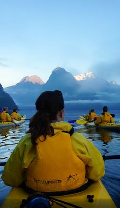Kayaking on Milford Sound, South Island, New Zealand - this is honestly one of my biggest dreams Nz South Island, New Zealand South Island, Places To Travel, Places To See, White Water Kayak, Milford Sound, Kayak Camping, New Zealand Travel, Royal Caribbean