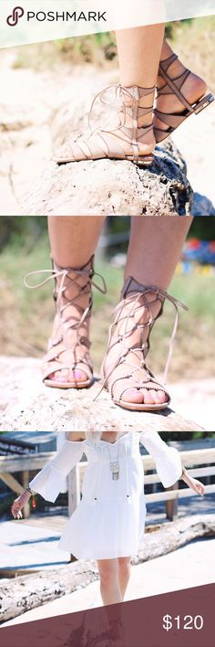 Schutz Gladiator Sandals Worn Twice 7.5 Almost brand new condition. Only worn twice for photos. From Shopbop.com SCHUTZ Shoes Sandals
