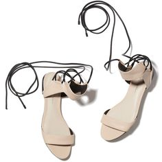 3.1 Phillip Lim Martini Ankle Lace Flat Sandal Goop ❤ liked on Polyvore featuring shoes, sandals, flat sandals, zapatos, laced sandals, flat shoes, lace up flat sandals and black flat shoes