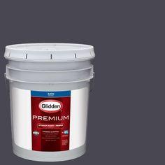 Glidden Premium 5 gal. #HDGV52D Black Amethyst Satin Interior Paint with Primer