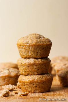 I made these banana muffins with COCONUT OIL- they came out so MOIST and FLUFFY!