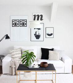 Mud cloth | So Leb Ich blogger Karynas' minimalistic summer transformation | IKEA Kivik sofa with a Bemz slipcover in a White Belgian Linen Blend fabric | www.ohwhataroom.de