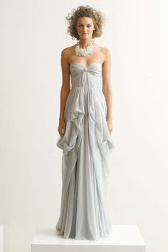 Gorgeous J.Mendel gown. #gray