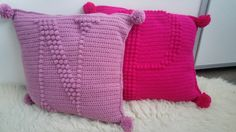 Crochet pillows with letters