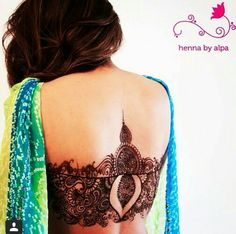 Henna/Mendhi on back : I don't usually like anything that's not on the hands or…