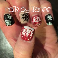 Snowflake and sweater nails