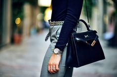 Hermes Kelly in the chicest of colours - black