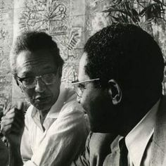 Cuban artist Wifredo Lam, who was of African and Chinese ancestry, photographed alongside Martinican intellectual Aimé Césaire in 1968 Salt Of The Earth, Male Hands, Black History, Ancestry, People, Chinese, Image, Masters, Caribbean