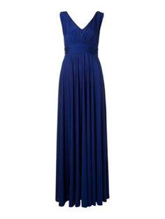 Biba Deep V full skirted maxi dress Ultramarine - House of Fraser