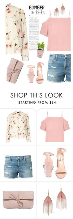 """""""Summer Bomber Jacket"""" by dindydind on Polyvore featuring Dorothy Perkins, T By Alexander Wang, Frame Denim, Steve Madden, LULUS, Serefina, New Look and bomberjackets"""