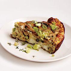 Mushroom, Leek, and Fontina Frittata | MyRecipes.com #myplate #protein #vegetable