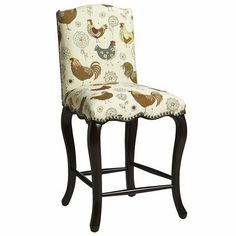 Claudine Rooster Counterstool - Not the pattern... the shape. - Pier One