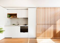 A Big Kitchen, Dining Room, and Bedroom—All in a Studio Apartment? This Studio Apartment Was Transfo Studio Interior, Interior Design Kitchen, Apartment Design, Apartment Living, Studio Apartment Kitchen, Apartment Layout, Apartment Interior, Small Apartments, Small Spaces