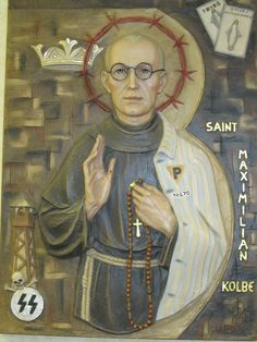 Saint of the day – August 14 – St Maximillian Kolbe Maximilian was born in 1894 in Poland and became a Franciscan. He contracted tuberculosis and, though he recovered, he remained frail all his life. Catholic News, Catholic Saints, Roman Catholic, Maximillian Kolbe, Advent Prayers, Catholic Prayers, St Maximilian, Christ The King, Holy Week