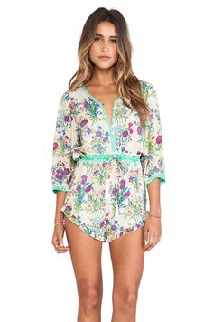 Spell  The Gypsy Collective Gypsy Queen Romper in Cream Floral