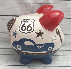 Vintage coches artesanales pintadas cerámica personalizada