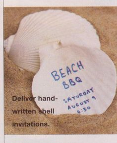 Sea shell invitations