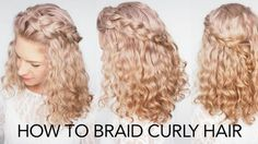 """Braids with curly hair aren't that easy, but with a little practice they can look really awesome! Hairromance.com made an in depth step by step video tutorial along with 5 basic tips on """"How to braid curly hair""""."""