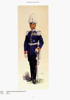 German; 109th(1st Baden) Leib Grenadiers Regiment, Oberst. Raised 1803. Home Depot Karlsruhe. XIV Army Corps.