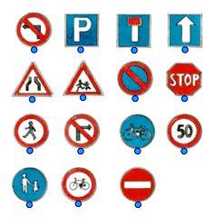 Βρείτε τα σήματα της οδικής κυκλοφορίας Transportation, Kids Rugs, Templates, Education, Projects, Blog, School, Decor, Log Projects