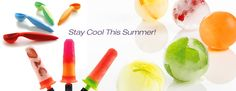 Fun Summer Time Gadgets that will keep you cool. Ice Pop Molds, Ice Cream Scoop, and Ice Ball Molds