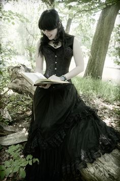 A beautiful girl in gothic fashion