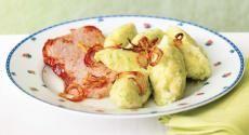 Recepty: Cuketové chlupaté knedlíky s uzeným masem