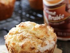 Creme Brûlée Muffins from chef-in-training.com ...The flavors of a fancy dessert in a simple, soft and delicious muffin! #breakfast #recipe ...