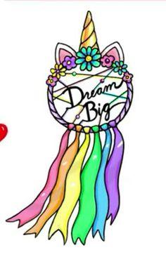 Unicorn Dream Catcher#unicorn#unicornparty#unicornlover#dreamcatcher#decoration#partyideas#unicornideas#unicornstyle Kawaii Art, Cute Kawaii Drawings, Kawaii Doodles, Kawaii Anime, Cute Unicorn, Unicorn Art, Cute Girl Drawing, Easy Drawings, Amazing Drawings