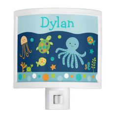 Bubbles /& Squirts Personalized Wall Clock Childs Bathoom Gift