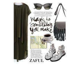 """ZAFUL/ http://www.zaful.com/?lkid=8297"" by helenevlacho ❤ liked on Polyvore featuring Anja, Moleskine and zaful"