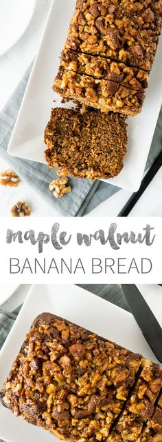 My Banana Bread has a crunchy, caramelized Maple-Walnut Topping which adds a new twist to your normal banana bread recipe!